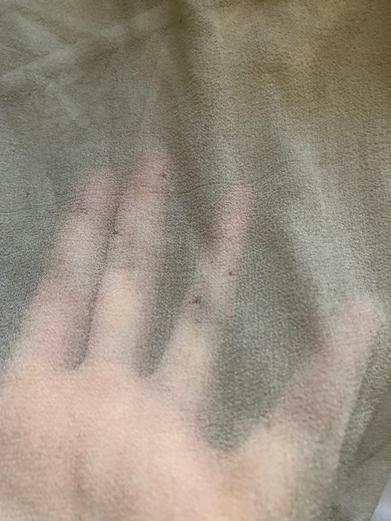 Vintage True Antique 20s Silk Sheer Crop Blouse T… - image 9
