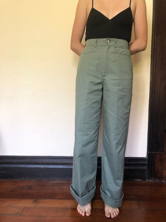 Vintage Fit Light Green Carpenter Pants / Army Wor