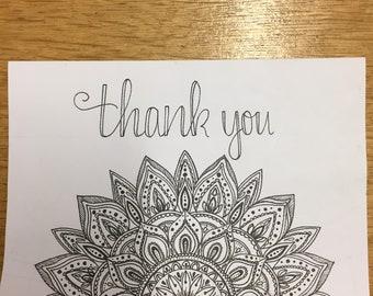 Cutomised Text Mandala Card