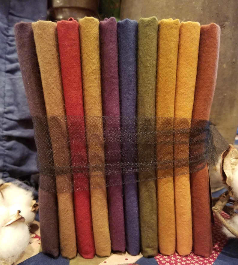 Rainbow Pack #1 Liberty Homestead/'s Hand Dyed Quilter/'s Cotton Sueded Cotton