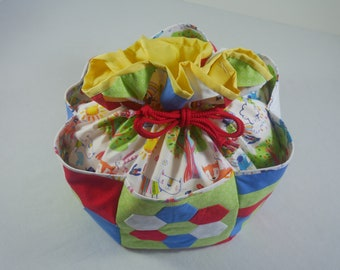 Hexagon Sampler Bag Kit; Patchwork Bag Kit; Patchwork Pattern; Patchwork Kit; Drawstring Bag