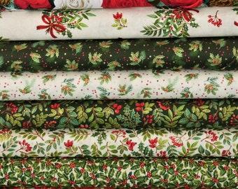 Classic Christmas Foliage by Makower UK - Collection 1