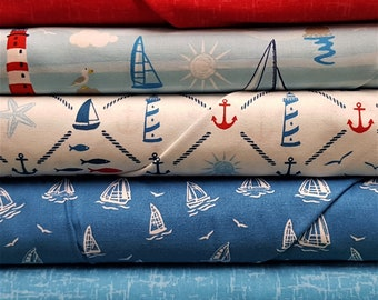 Nautical-themed fabric collection