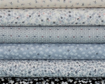 Tranquility by Makower UK - Grey Collection
