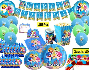 8a2c75207 20Guests Baby Shark Party Favor Party Decorations Brithday Party Supplies