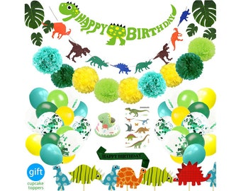 69 Pack Dinosaur Party Supplies Little Dino Decorations Set For Kids Birthday Baby Shower Bridal