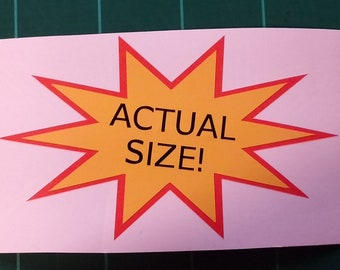 "Actual Size Die-Cut Multi Layer 4"" Vinyl Decal"