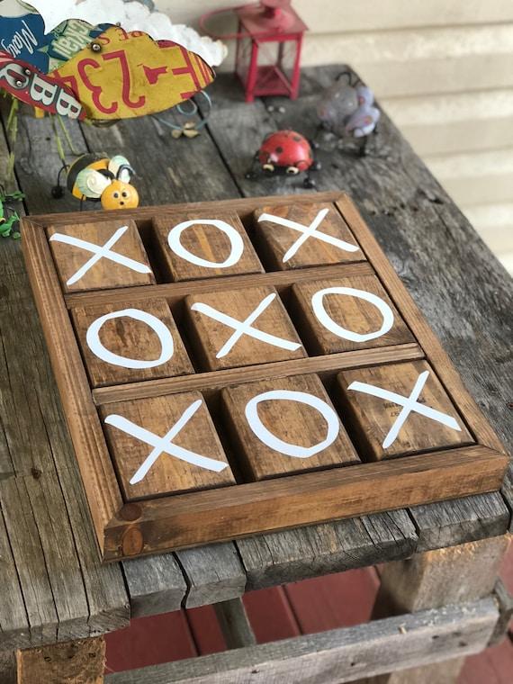 Wooden Tic Tac Toe Etsy