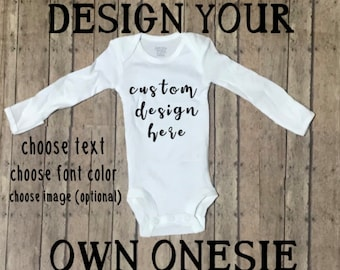 35b6aa58a7e0 Custom baby onesie