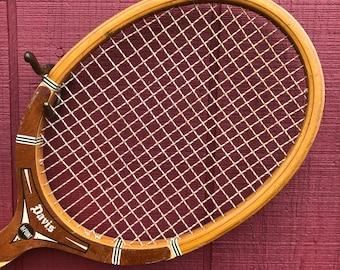 TA Davis Hi-Point Wood Tennis Racket