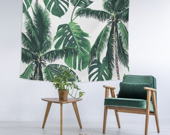 c535a658d4fc Shady Palm Tree Tropical Custom Printed Unique Dorm Decor Apartment Decor  Trendy Wall Art Printed Wall Hanging Wall Tapestry