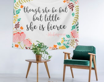 Items similar to Ready to SHIP Toddler And, though she be but little, she is fierce Shakespeare quote shirt sizes 2T 4T on Etsy