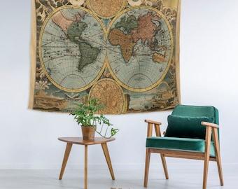 World map decor etsy gumiabroncs Gallery