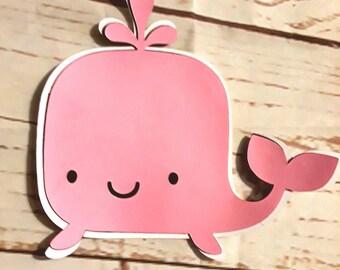 Rose baleine corps Die Cut, découper baleine, baleine Baby Shower
