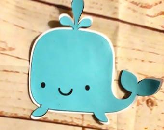 """3"""" baleine bleue corps Die Cut, découpé baleine, baleine Baby Shower"""