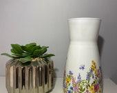 Floral vase, decoupage floral meadow vase, flower vase, glass vase, decorative vase, gift for mom, Gift for nan, Mother s Day gift, gift mum