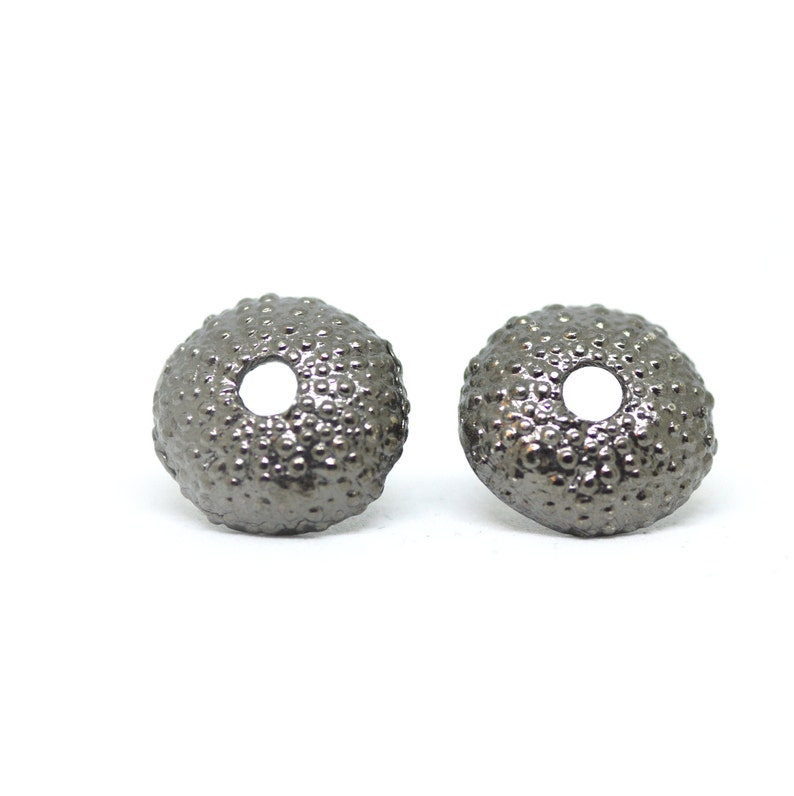 sea urchin decor.htm small sea urchin stud earrings shell studs beach finds etsy  sea urchin stud earrings shell studs