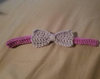 Customizable Headband with Bow (1)