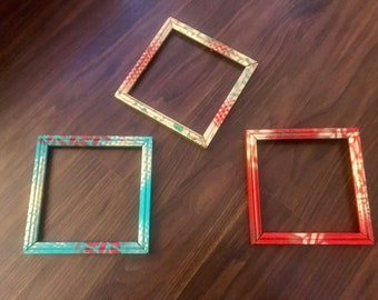 Hand-painted frame set