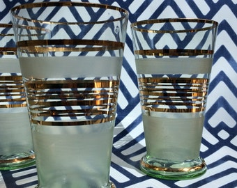 Gold & Glass Tumblers 80's