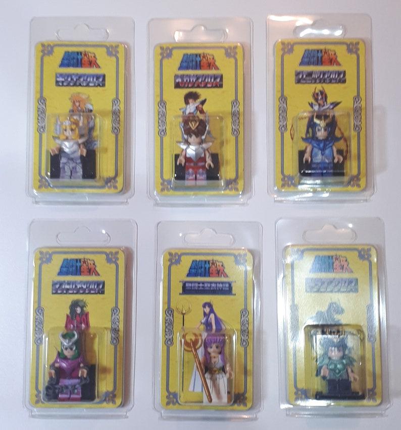 Handmade blister and carton Lot 6 Saint Seiya figures