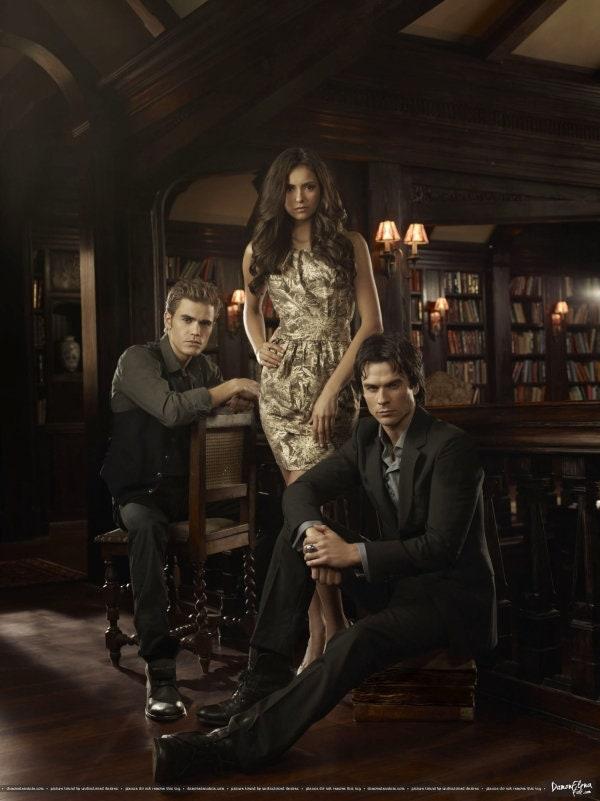 Elena Gilbert Stefan Damon Salvatore Der Vampire Diaries Etsy