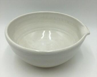 """Large Stoneware General Purpose Mixing Bowl - White 8"""""""