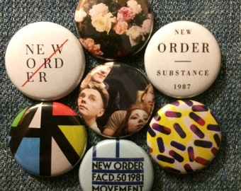 "New Order   1"" Button Pinbacks"
