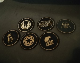 Wooden Coasters with Star Wars Inspired Images
