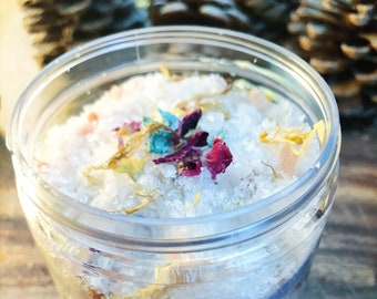 Wildflower Floral Bath Salt Soak// Himalayan Dead Sea Salt Bath Salts