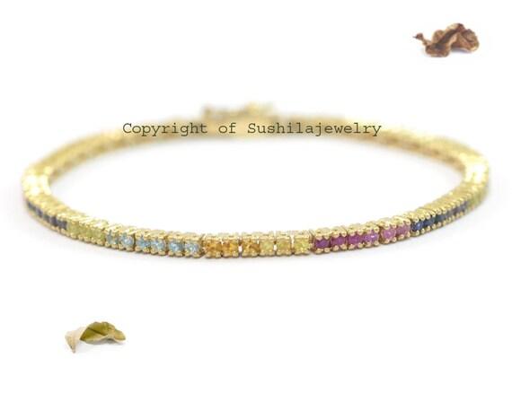 14K Solid Gold Natural 4mm ruby Beads ADJUSTABLE Children bracelet 5/'/' 6/'/'