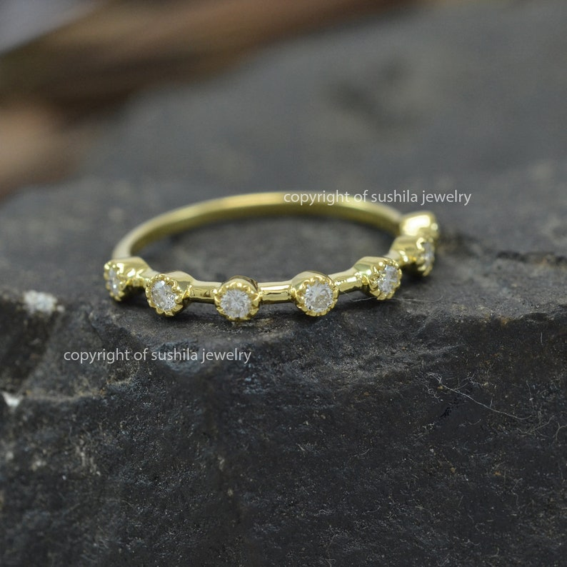 Jewelry 14k Solid Yellow Gold Natural Si Clarity G Color Diamond