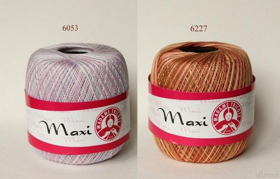 Ören Bayan MAXI 10//3 MERCERIZE 100/% BAUMWOLLE 100g LL 565m Bunt Cotton NEU