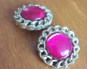Vintage Pink clip-on earrings