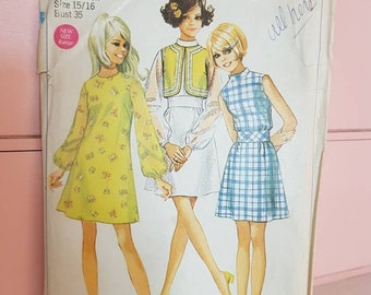 Vintage Simplicity Dress Pattern 3 in 1