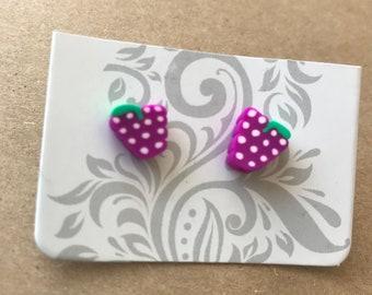Grape fruit tropical earrings