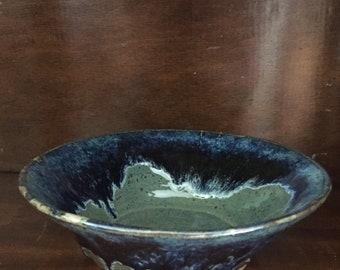 Bowl green and blue handmade in Prince Edward Island, Canada