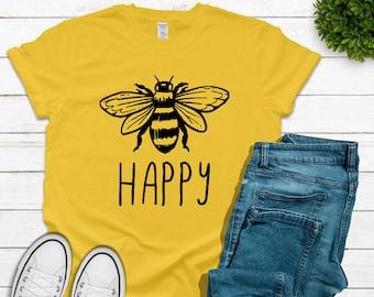 9e2193dc2e9f0 Bee tshirt   Etsy
