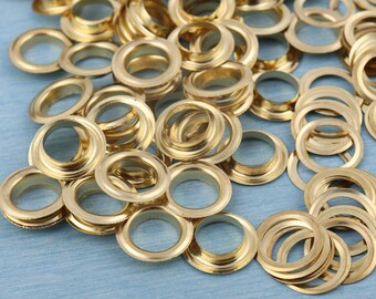 Eyelets 12 Inch Antique bronzeCopper Color Metal Grommets With Washer 12mm Leather Eyelets Sewing Accessories For Belt Bag Garment-20sets