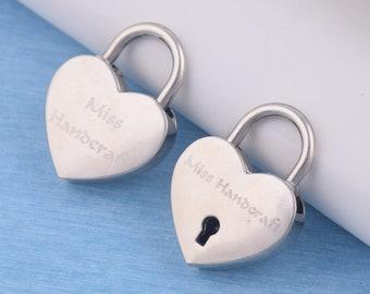 Custom Baseball Cap Heart Shaped Padlock and Key Embroidery Acrylic