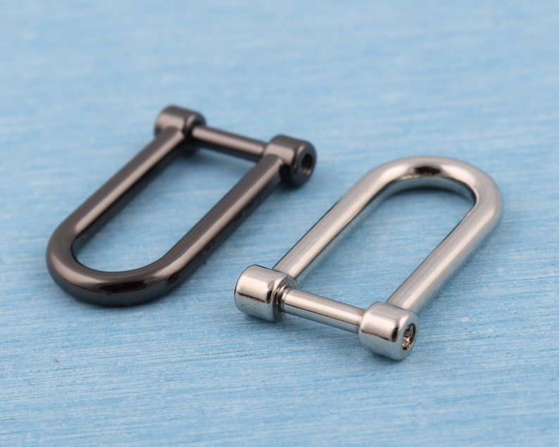 4 pcs horseshoe d ring,10mm inner metal u shape screw d buckles,u shape ring,d buckle,belt connector,bag connector,bag craft accessories
