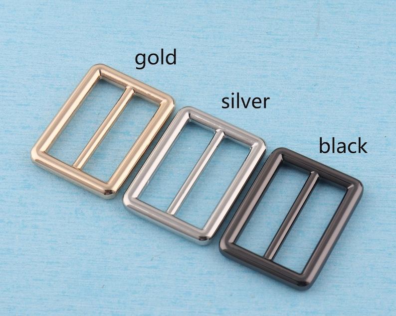 4 pcs 1 14 adjuster slider buckle,32mm metal strap tri-glide slider,goldsilverblack release belt buckle,tri bar buckles bag hardware