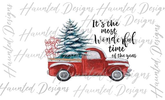 Christmas Truck Sublimation Design Christmas Tree Truck PNG Christmas Printable Christmas Sublimation Christmas Clipart