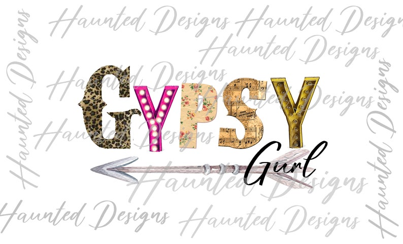 Clip Art Digital Download Gypsy Gurl PNG Graphic