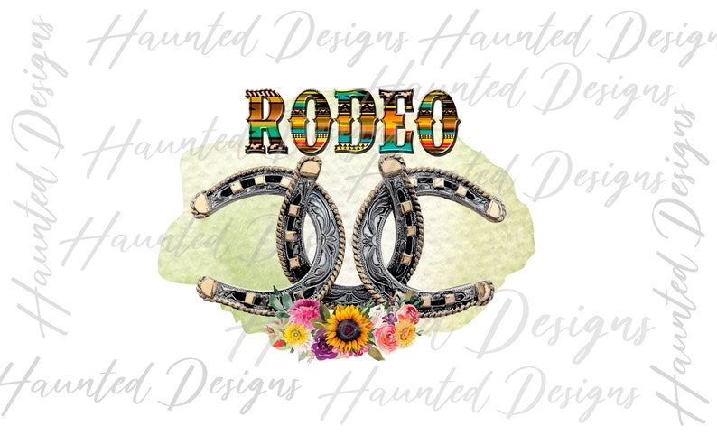 Printed Sublimation Transfer Cowgirl Horseshoe Rodeo Belt Buckle Sunflower