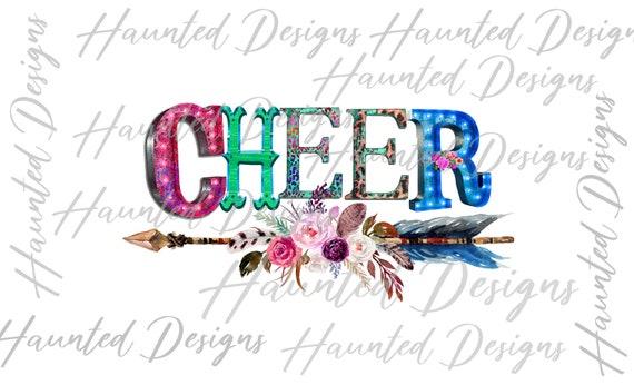 Cheerleader Design Cheer Varsity Leopard Instant Digital Download Sublimation Design PNG Clipart Graphic