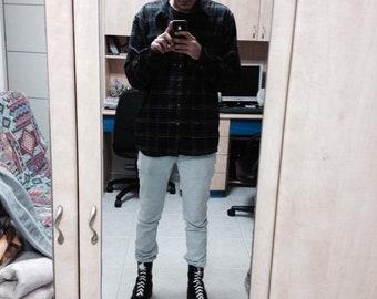 Black Flannel Shirt Size XL