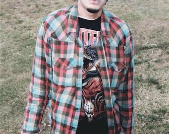 Multi-Color Flannel Shirt Size XXL