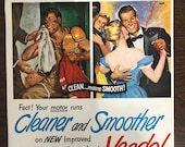 Veedol Motor Oil 1950s , Original Magazine Print Ad, Advertisemen 1034