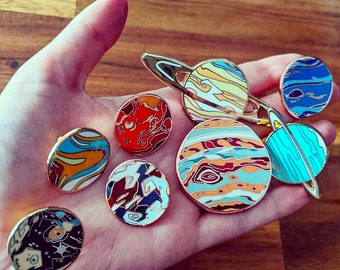 Universe Collection: Planet Hard Enamel Pins